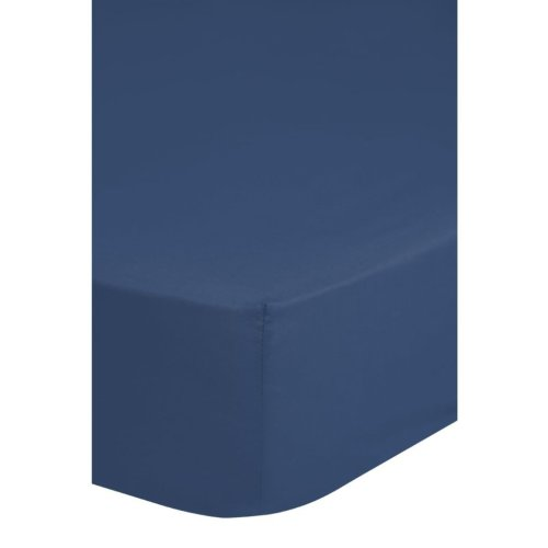 Emotion Non-iron Fitted Sheet 140x200 cm Blue 0220.24.44
