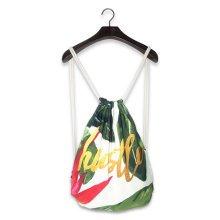Fashion Street Harajuku Style Drawstring Backpack Travel Sports Adjustable Bag Q