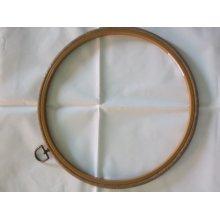"Siesta 10"" Round Plastic Flexi Hoop - Woodgrain Effect"