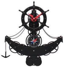 GoedYE 3D metal gear wall clock Ship's helm