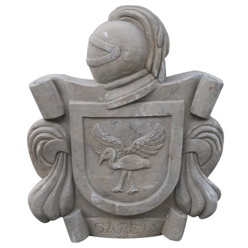 Stone Made Coat Of Arms  W50xdp10xh62 Cm Sized