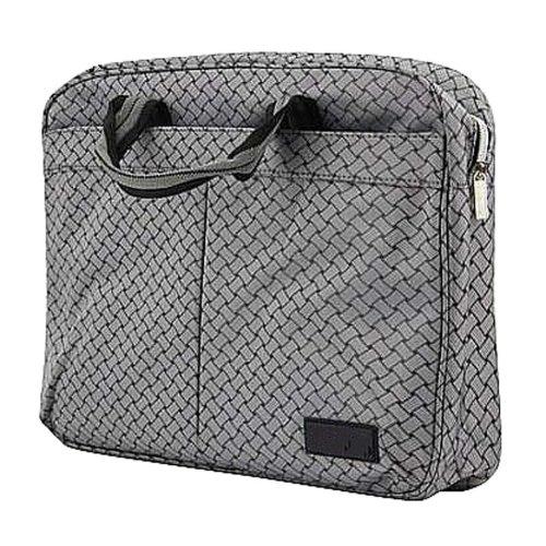 Multilayer Thicker File Holder Zipper Briefcase Information Bag-Gray