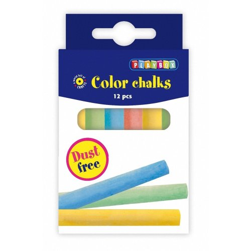 Pbx2471161 - Playbox - Coloured Chalks, 12 Pcs