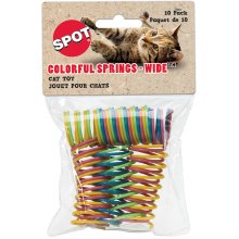 "Colorful 1"" Wide Spiral Springs Cat Toy 10/Pkg-Assorted"