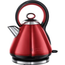Russell Hobbs 21885 Legacy Quiet Boil Electric Jug Kettle 1.7 Litres 3000W - Red
