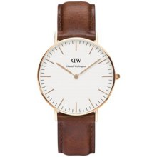 Daniel Wellington DW00100035 Watch Brown Leather Mixed