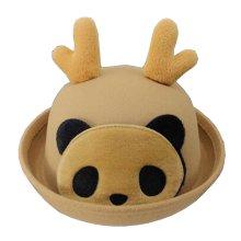 Lovely Baby Woolen Bowler Hat Children Bucket Hat Panda Khaki