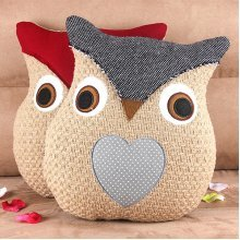 Cloth Art Rural Idyll Pillow Cushion Cartoon Owl
