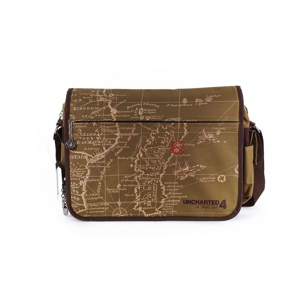 Uncharted 4 A Thiefs End Treasure Map Messenger Bag 38 cm Brown (GE3167)