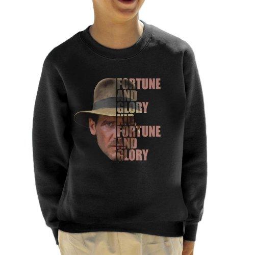 Indiana Jones Half Head Text Kid's Sweatshirt