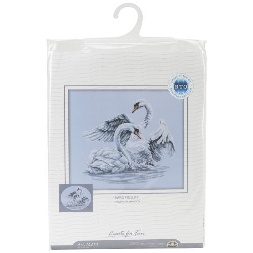 """Swan Fidelity Counted Cross Stitch Kit-15.75""""X13.75"""" 14 Count"""