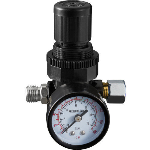 Pressure gauge with 1/4″ connection - black
