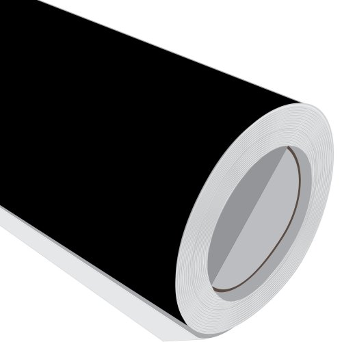 Black Gloss Adhesive Vinyl Roll 610mm 1M 2M 3M 5M 10M