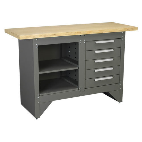 Sealey AP2030BB Heavy-Duty Workbench with 5 Drawers - Ball Bearing Runners