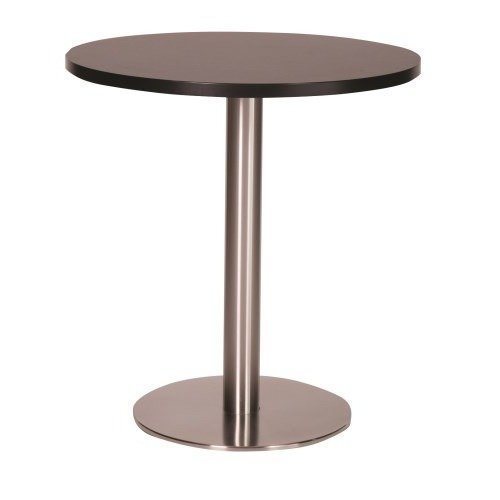 Daniella Brushed Stainless Steel Dining Table - Large Base with Various Top Sizes and Colours Wenge 800 Round (+50) Round Standard