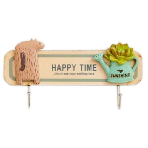 Wooden Hanging Hook Clothes/Keys/Hats Hook Home Decoration Personalized Wall Shelf Row Hook #14