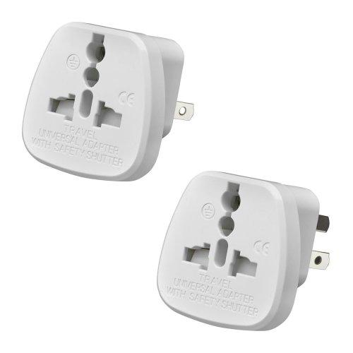 AMOS Universal UK USA EU AU to 2 & 3 Pin China Travel Plug Adaptor Mains Adapter