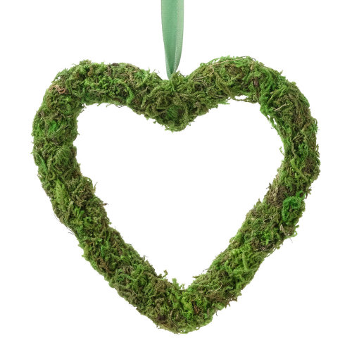 Moss Wedding Decor Hanging Heart