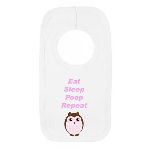 Pull Over Bib - Eat Sleep Poop Repeat Owl