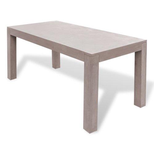 vidaXL Outdoor Dining Table Concrete Rectangular