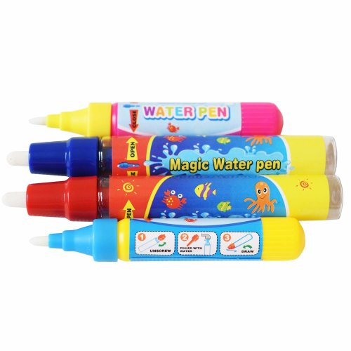 Rangebow 4 x Aqua Water Doodle Replacement Pens 2 x Large 2 Small for All Aqua Drawing Mats Drawing Painting Boards Water Drawing Doodle Magic Four...