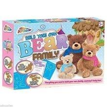 Grafix Build Your Own Bear Family Kit Children's Gift
