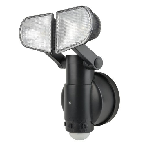 Xtralite NiteSafe Twin Motion Activated Floodlight LED Wireless Battery Operated With Adjustable Heads