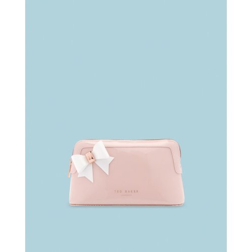 AUBRIE BOW MAKE UP BAG PINK