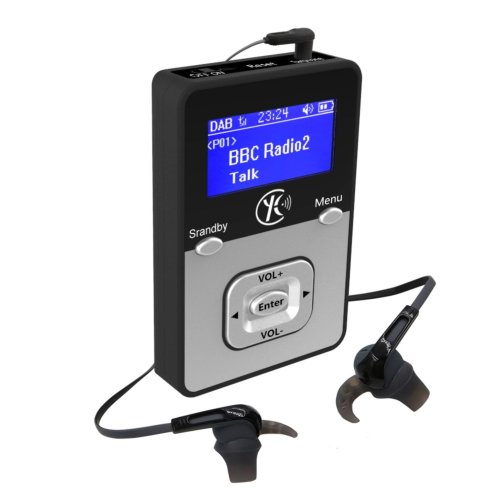 WalkRadio K1,DAB radio portable,MP3 Player portable(MP3 WAV... / Micro SD Card ) - Rechargable Battery(Upto 12 Hours Playtime/Record Radio to WAV)...
