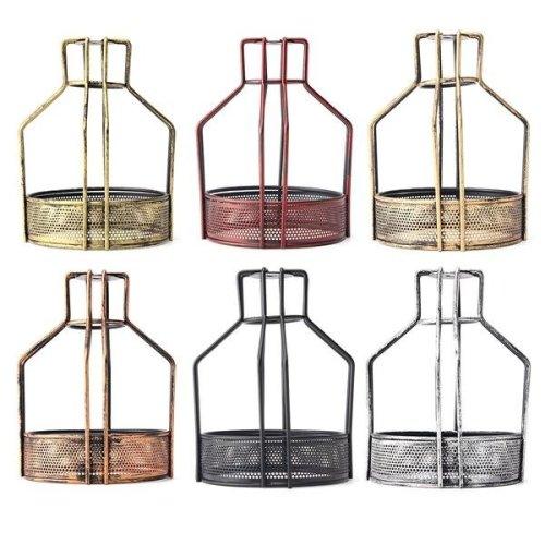 Iron Vintage Ceiling Light Fitting Lamp Bulb Net Bottom Shape Cage Bar Cafe Lampshade