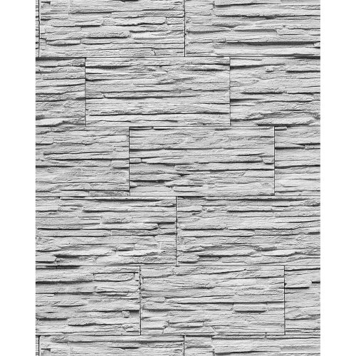 EDEM 1003-32 vinyl wallpaper textured stone natural brick grey white   5.33 sqm