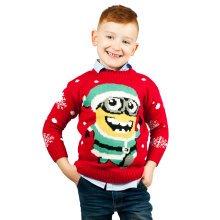 Miss Lulu Kids Boys Girls Thicker Christmas Jumper Minion Snow Hopiko Knitted Sweater