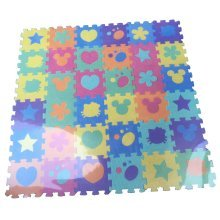 36pcs Baby Kids Puzzle Toy Mixed Shapes Colours Number Foam Play Mat Jigsaw Mats