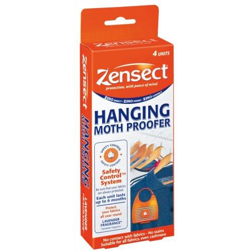 Zensect Moth Hanging Proofer - Lavender Repellent Fabric Freshener Killer Pack 4 -  moth hanging proofer zensect lavender repellent fabric freshener