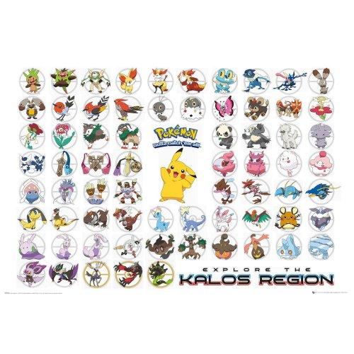 Pokemon Kalos Region Maxi Poster