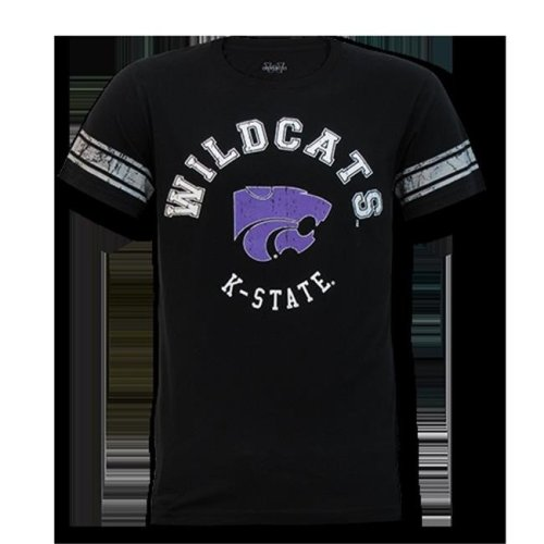 W Republic Mens Football Tee K-State, Black - Medium
