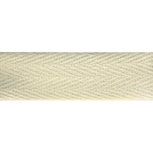 """Products From Abroad 100% Cotton Twill Tape 1.125""""X55yd-Cream"""