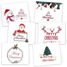Kuuqa 36 Pieces Christmas Cards With Envelopes And Stickers 6 Designs