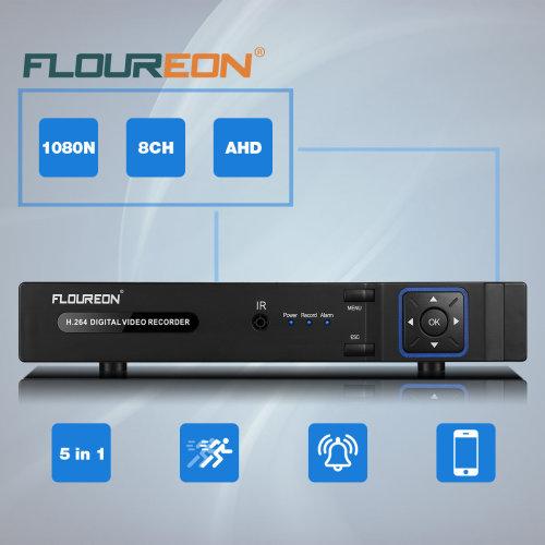 5 IN1 TVI 8CH AHD 1080N HDMI CCTV Security Video Recorder DVR NVR