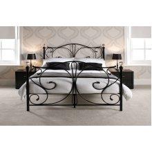 Florence Crystal Knob Metal Bed Frame