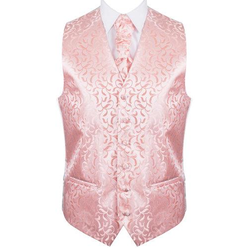 Peach Vintage Vine Wedding Waistcoat #AB-WW1004/3 Men's L - 42''