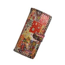 Handmade Retro Colourful Individuality Printing Wallet Purse