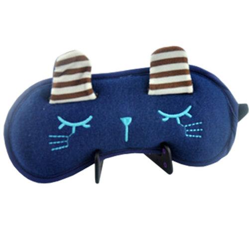 Cartoon Sleeping Eye Mask Sleep Mask Eye-shade Aid-sleeping Cute Rabbit Blue