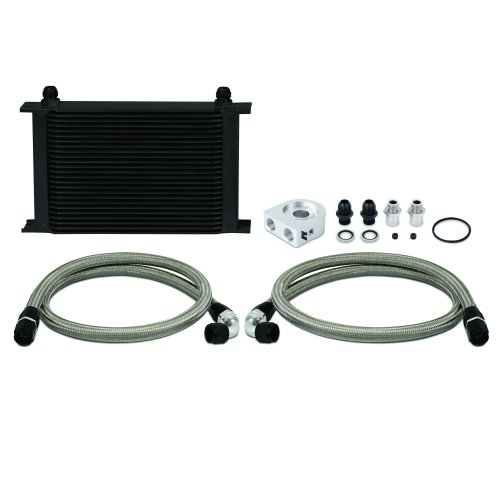 Mishimoto MMOC-UHBK Universal Oil Cooler Kit, 25-Row, Black