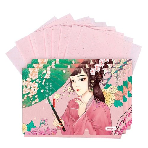 Double-sided Facial Oil Control Blotting Papers Makeup Blotting Papers 300 Sheets (D)