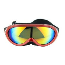 Snow Goggles Windproof Eyewear Ski Sports Goggle Protective Glasses Red/Color