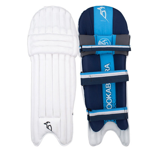 Kookaburra 2019 Rampage 4.0 Cricket Batting Pads Leg Guards White/Blue