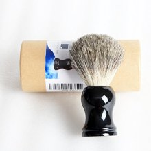 HO ISLETS HighEnd Shaving Brush Real Badger Gift Sets For Men Black