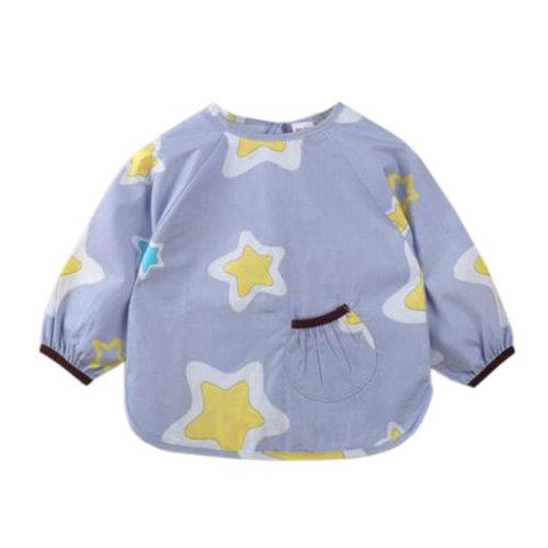 Lovely Baby Bibs Feeding Bib Kid's Apron Overclothes Waterproof Long Sleeves Art Smock NO.09