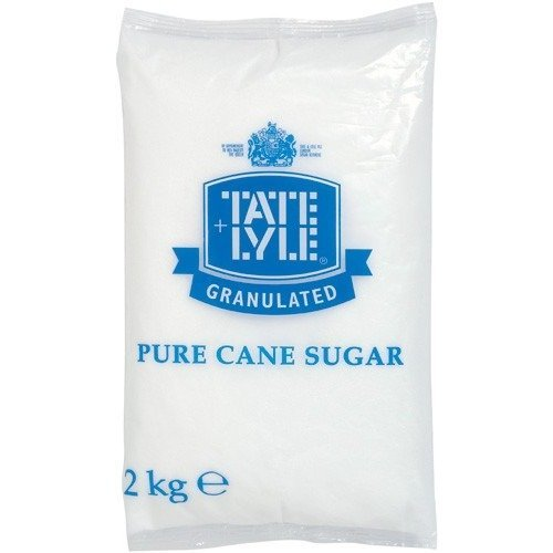 Tate & Lyle Granulated Sugar 2kg Poly Bags